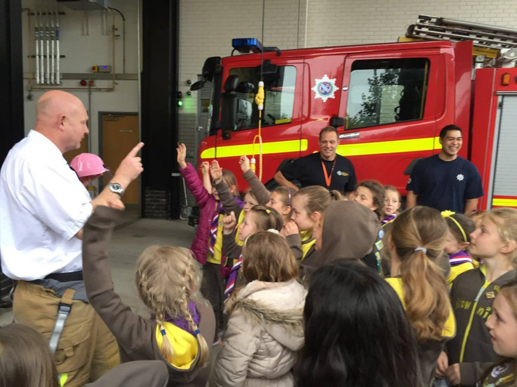 Brownies visit Formby Fire Station