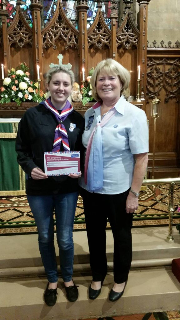 Gemma was presented with her Warrant at the Harvest Church Parade
