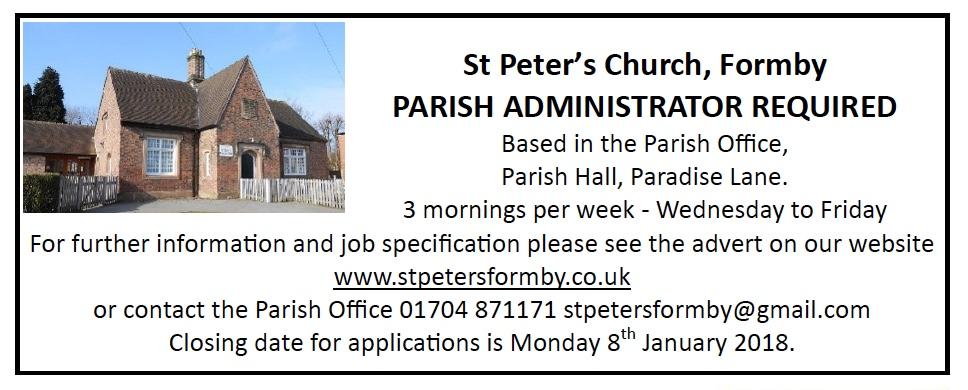 Parish Admin Advert