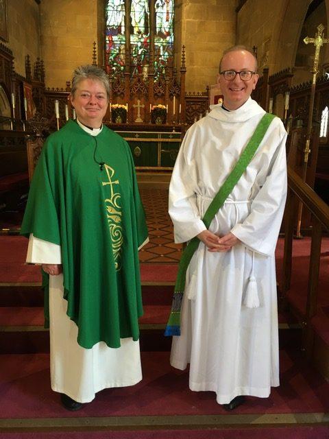 Rev Anne Taylor and Rev Simon Macaulay